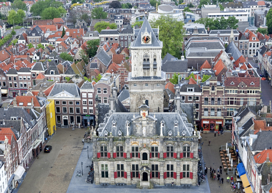 City of Delft from above