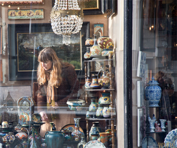 Antique shopping Amsterdam